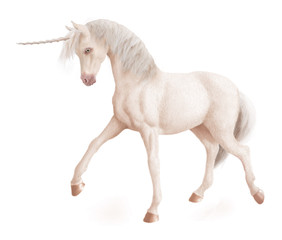 cheval-licorne-blanc-féérique-fantaisie-animal-photo-illustration-3D-pas décidé