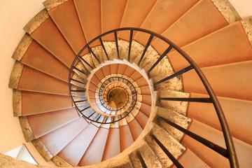 Italy, Central Italy, Lazio, Tivoli, Villa d'Este. Spiral Staircase.