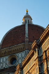 Duomo at dawn (portrait), Florence, Italy