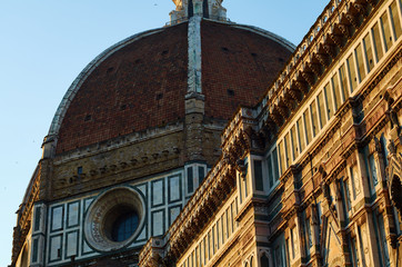Duomo at dawn (landscape), Florence, Italy