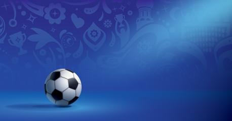 FOND FOOTBALL BLEU