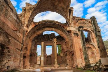 Italy, Central Italy, Lazio, Tivoli. Hadrian's Villa. UNESCO world heritage site. The Grand Thermae (Grandi Terme) ruins.