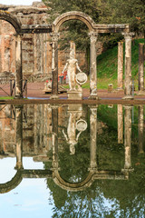 Italy, Central Italy, Lazio, Tivoli. Hadrian's Villa. UNESCO world heritage site. The Canopus.