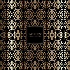 Art deco style gold background