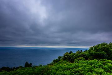 曇りの相模湾 The horizon and sky