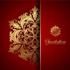 Decorative invitation background
