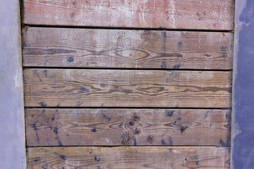 horizontal wooden board wall