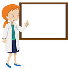 A Doctor and White Board
