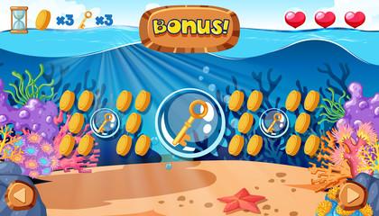 Deep Underwater Bonus Game Template