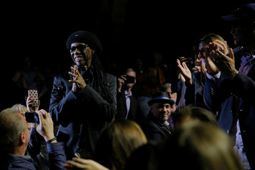 Honorary degree recipient and musician Nile Rodgers is honored during the Berklee College of Music Commencement Concert in Boston