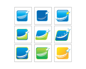 star tooth braces image logo icon star image vector set
