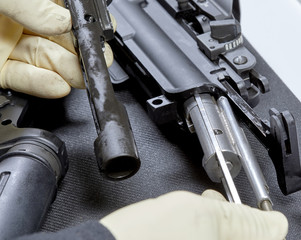 Changing the Caliber on an AR15 Rifle
