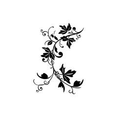 leaf tribal tatto logo