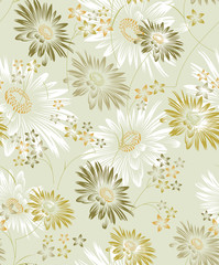 Seamless vector sunflower background