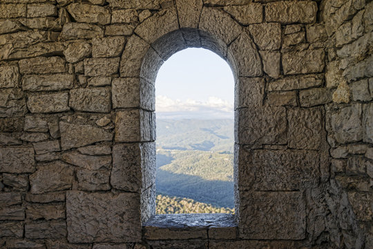 Window in a stone wall