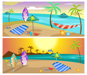 summer traveling banner design