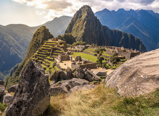 Garden Poster South America Country Machu picchu at afternoon