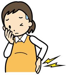 腰痛の妊婦