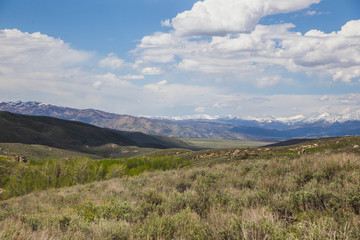 Summer Landscape in Southern Idaho Mountains