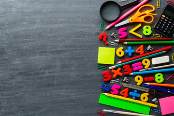 Stationery and math exercises