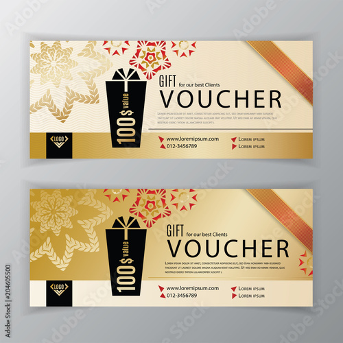 Vector gift voucher template universal flyer for business clean vector gift voucher template universal flyer for business clean vector design black gold cheaphphosting Gallery