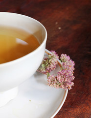 Tea made from dried oregano is a medicinal herb that has a pleasant aroma