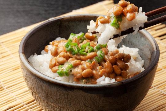 オクラと納豆ご飯