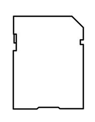 SDカード(線画)