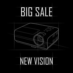 Contour raster pattern, big sale. New vision