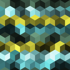 Hexagon grid seamless vector background. Technological polygons six corners geometric design. Trendy colors hexagon cells pattern for web or cover. Hexagonal shapes modern backdrop.