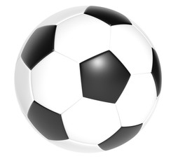 soccer ball isolate on white background