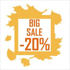 Autumn big sale, 20 percent discount