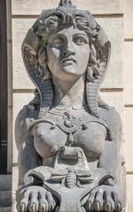 Photo sur Plexiglas Commemoratif Statue of beautiful sphinx in downtown of Prague, Czech Republic