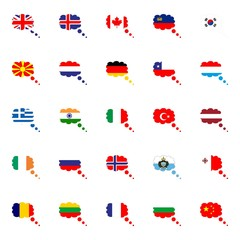 Flags vector of the world
