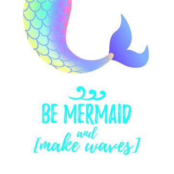 cute mermaid tail. Mermay concept.