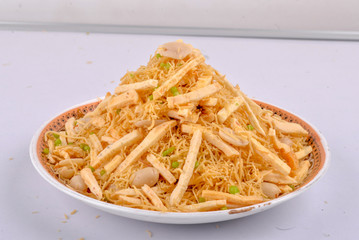Traditional indian norii mixture namkeen