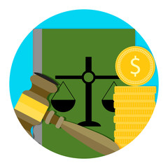 Legal consultation fee icon