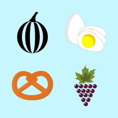 icons about Food with vine, crunchy, egg, diet and fruit