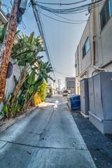 Empty backstreet in Los Angeles