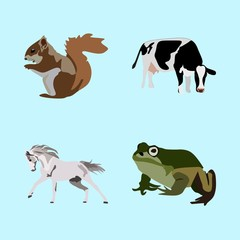icons about Animal with farm, tail, animals, jumping and art