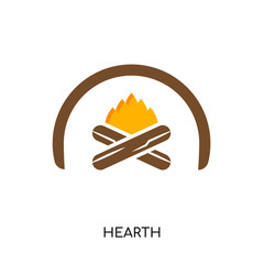 hearth logo isolated on white background , colorful vector icon, brand sign & symbol for your business