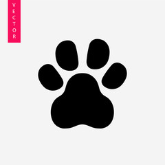 Paw vector icon, logo