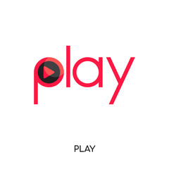 play logo images isolated on white background , colorful brand sign & symbol for your business
