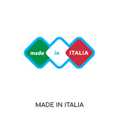 made in italia logo isolated on white background , colorful vector icon, brand sign & symbol for your business