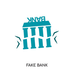 fake bank logo isolated on white background , colorful vector icon, brand sign & symbol for your business