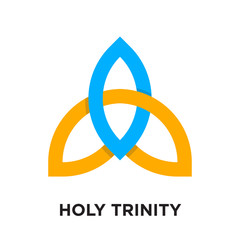 holy trinity logo isolated on white background , colorful vector icon, brand sign & symbol for your business