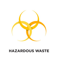 hazardous waste logo isolated on white background , colorful vector icon, brand sign & symbol for your business