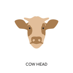 cow head logo vector icon isolated on white background, colorful brand sign & symbol for your business