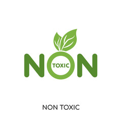 non toxic logo isolated on white background , colorful vector icon, brand sign & symbol for your business