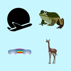 icons about Animal with croaking, tattoo, savanna, cartoon and zoology